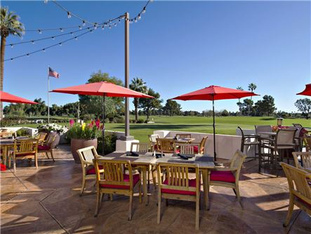 Red's Bar & Grill Outdoor Dining overlooking the Golf Course